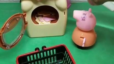 小猪们的衣服太脏了,猪妈妈给小猪们洗衣服,真是勤劳的猪妈妈