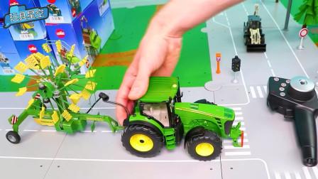 农用车的玉米庄稼改造成风火轮放在后面,这个创意看起来很酷