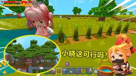 迷你世界:刺客生存!生存比较穷,为了不被野怪偷袭也只能种竹子当围墙了
