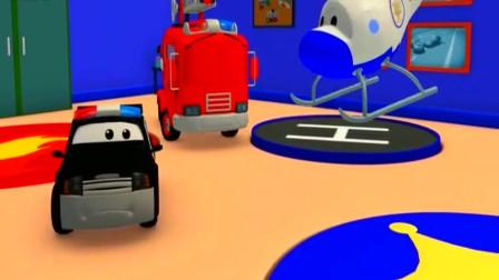 神秘的年兽春节特辑警车和消防车在汽车城卡通动画