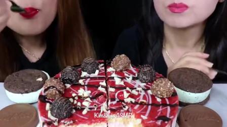 草莓白巧克力蛋糕+费列罗巧克力球