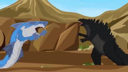 哥斯拉:哥斯拉vs鲨鱼