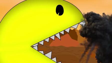 哥斯拉:吃人豆跳起来攻击哥斯拉