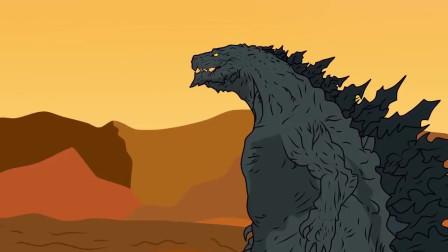 哥斯拉:哥斯拉攻击恐龙,厉害
