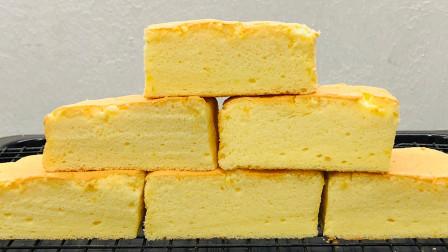 4个鸡蛋,1碗面粉,教你蛋糕最简单的做法,不塌不回缩,松软香甜