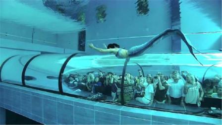 """美国水族馆里,居然住着一条""""美人鱼"""",每年都会吸引大量游客!"""