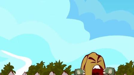 植物大战僵尸:豌豆射手的重拳出击,突然来到的巨型僵尸!
