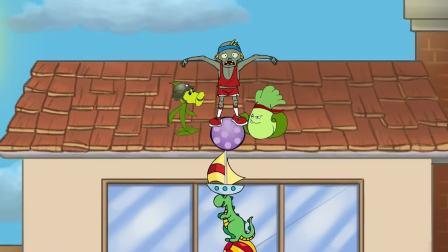 植物大战僵尸:拳击白菜与豌豆射手的游戏,瑟瑟发抖的僵尸!