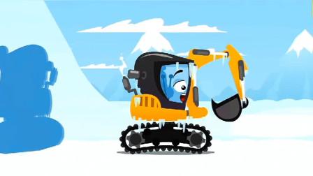 汽车总动员:好可怕,一只鳄鱼怎么盯上了挖掘机?