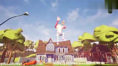 你好邻居:我的新邻居巨人玩家直接躺在空中,这是什么操作啊