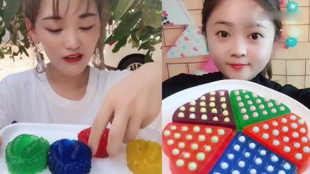 萌姐吃播:果冻小榴莲、彩色珍珠果冻,小时候的最爱