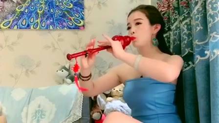 美女葫芦丝独奏一首《女儿情》,别有一番韵味,人美曲甜
