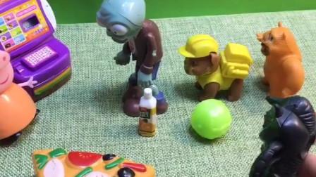 怪兽结账又想要插队,大家一起指责他,懂事的僵尸主动给老奶奶让位置