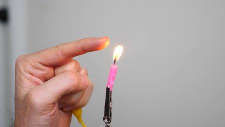 老外用手指也能控制火焰方向,看起来跟特效一样,怎么做到的?