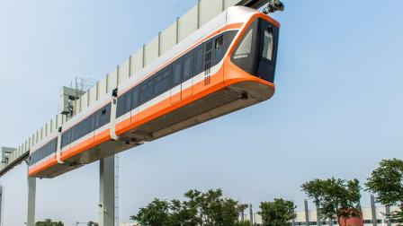 """中国耗资3.7亿发明""""飞车"""",430吨火车在天上跑!怎么做到的?"""