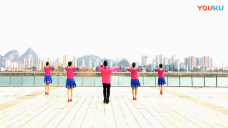 廖弟广场舞:欢歌唱起来(正面背面口令分解教学演示)