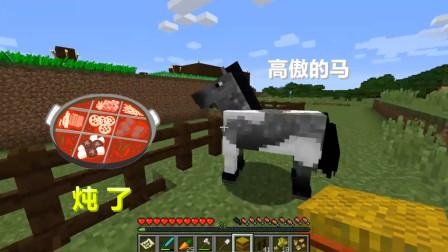 我的世界联机生存13:入梦遇到一只很高傲的马,打算给他炖了