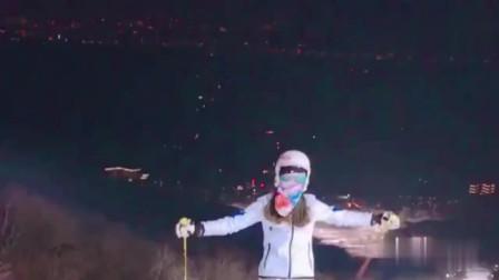 带女友去滑雪,本想显摆一下,没想到她也是高手!