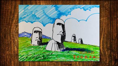 神秘石像窦老师教画画