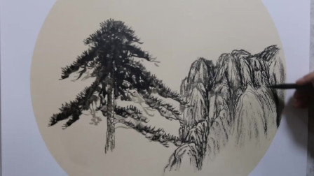 水墨山水画,初学者怎么描绘黄山?