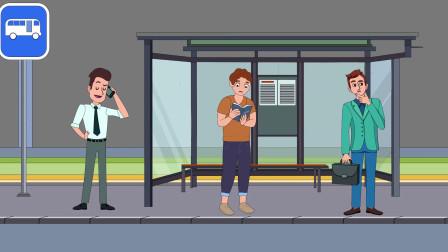 推理动画:站着的3个男人,谁是小偷?