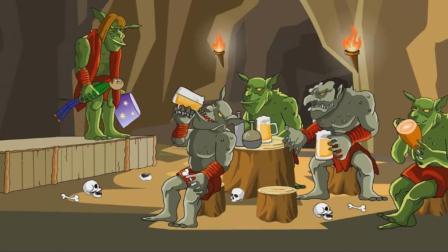 一群哥布林正在开宴会,巴尔迪老师来给它们上课