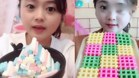 萌姐吃播:粉笔糖、巧克力饼干,你们吃过吗?