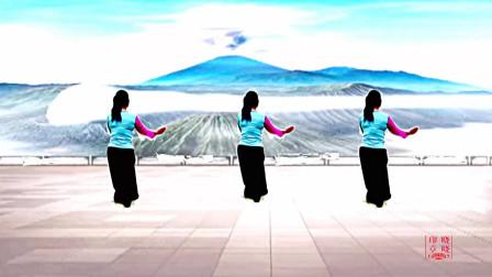 晓晓喜欢广场舞《今生我在修佛缘 - 谭明》原创编舞背面展示晓晓