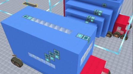 迷你世界:擎天柱造一体式变形房车教程,能变身豪华舒适的大房子(5)