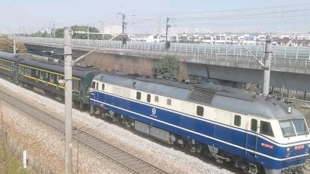 2020.3.18 苏州观景新村 上局宁东段DF11 0118牵引T237次列车通过!