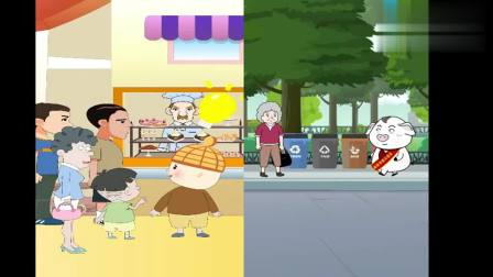 猪屁登:小女孩想插队买蛋糕,宝妈这样教育,小男孩做法真暖心!