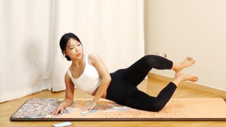 殷红瑜伽老师开课7:瘦腰瘦腿简单练习,打造筷子腿只需15天