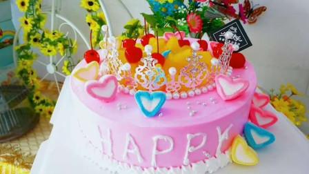 网红皇冠蛋糕教程,做自己的女王