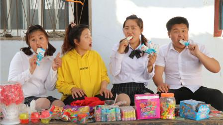 校园下乡记:同学们去小卖部买雪糕,为不给钱套路老师,过程真逗