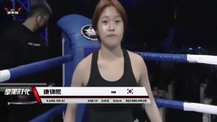 中国女武警霸气出场,韩国美少女瞬间笑不出来,擂台遭虐差点投降