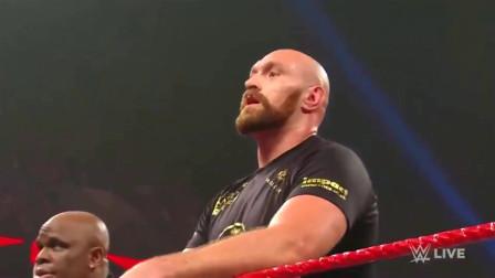 WWE布朗图斯曼遭遇重量级拳王泰森福里挑战,现场失控