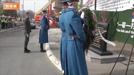 中国援塞医疗队来到大使馆旧址献花!中塞友谊万岁!