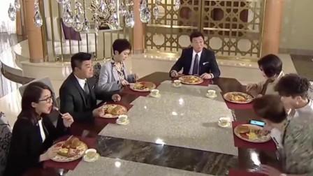 港剧:暴发户学有钱人,早饭全家改吃英氏早餐,火腿肠配面包