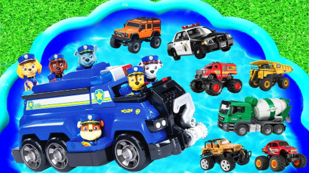 儿童启蒙玩具乐园:消防车、跑车、怪物卡车!