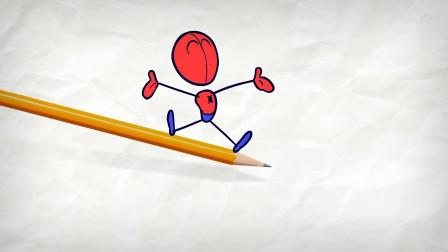 阿呆变成了蜘蛛人 他想要去做什么大事?铅笔画小人