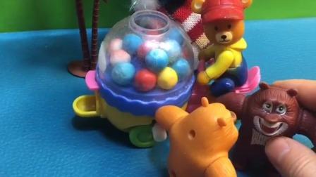 熊大叔出来卖糖,结果没人来买他的糖,你知道这是为什么吗?
