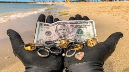 """男子海底探宝,找到一堆""""宝藏"""",这下赚翻了!"""