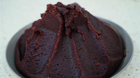 正宗广式红豆沙做法,口感香甜细腻,3分钟学会,放一年都不坏!