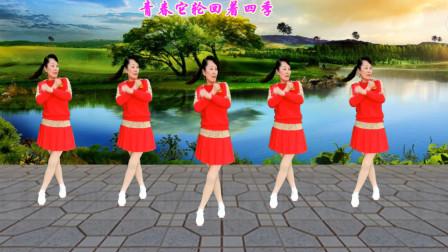 最新小情歌广场舞《情深几许》32步初级入门步子舞 简单大气 教学