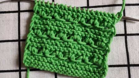 棒针小菊花花型,编织简单,适合编织厚实保暖的套头和外套毛衣