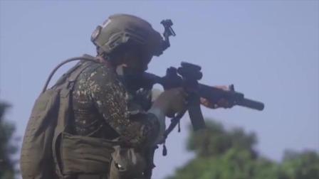 实拍美军与菲律宾进行实弹射击训练,子弹我管够