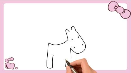 卡通小毛驴简笔画