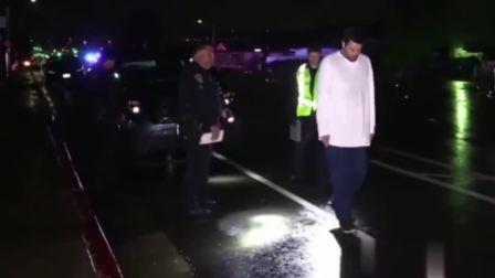 美国警察查酒驾来了,喝没喝酒走两步!