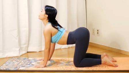 殷红瑜伽老师:规律收缩盆底肌,排毒促进宫腔循环,猫式很好用