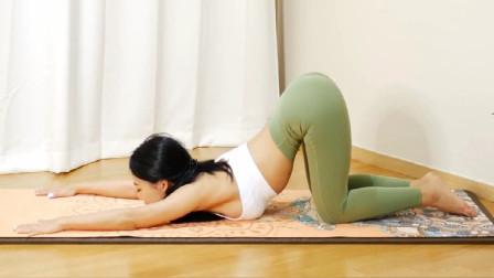 殷红瑜伽老师:排毒开胯瘦腰,从头到脚实现燃脂,坚持好哦